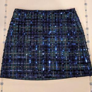 Plaid Sequin Vineyard Vines Miniskirt